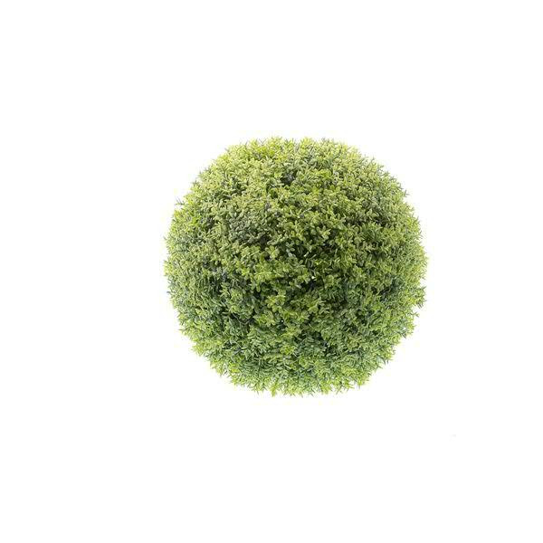 Klocke Deko blätter kugel d20cm plastik grün kugeln seidenblumen beiwerk