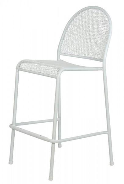 Barstuhl Metall SP 66x42x102cm, weiß