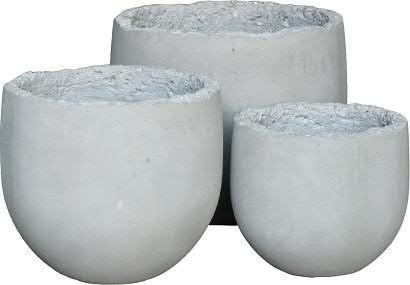Kübel BT255 D45/35cm 2er Satz Broken, cement