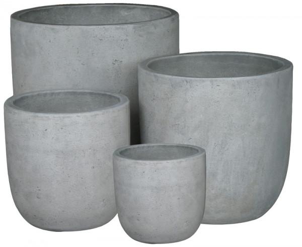 Kübel BT212 D50/40/33/26cm 4er Satz, cement