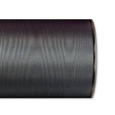 Kranzband 4422/125mm 25m Moire Goldrand, 200 d.grau