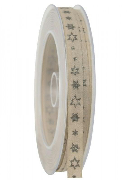 Band 347a/10mm 20m Sternchen, 027 sand