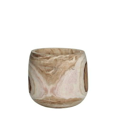 Topf Holz H31D31cm, natur