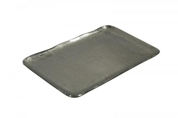 Tablett Alu antik 36x22cm