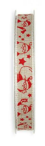 Band 129/15mm 20m Santa, 72 nat/rot