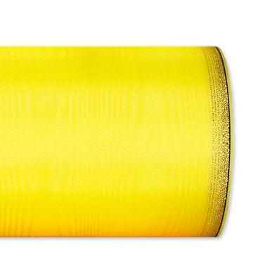 Kranzband 6694/150mm 25m Moire Goldrand, 602 gelb