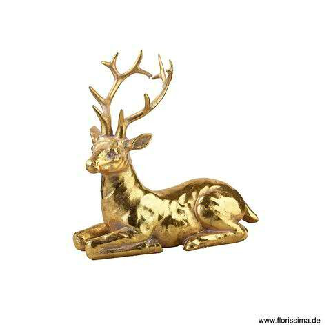 Hirsch Poly 17x8,5x17cm, gold