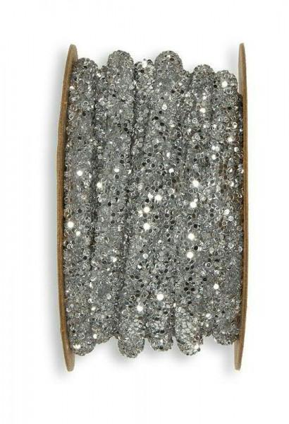 Band 24059/5mm 3m Glitter, 211 silber