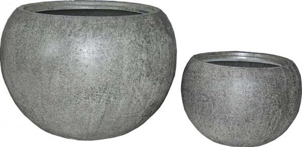Kübel FS121 D60/40cm 2er Satz m.E., steingrau