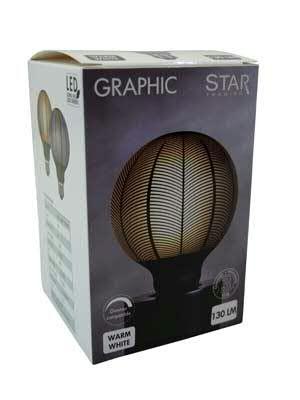 LED Lampe 9,5x14cm E27 dimmbar 230V/4W 130LM 2700K, grau