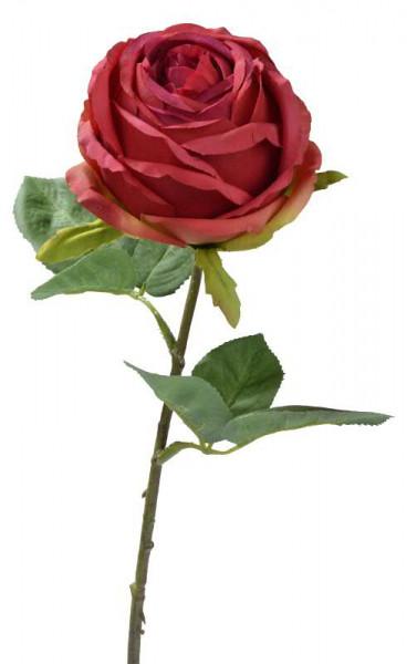 Rose 46cm, rot/grün