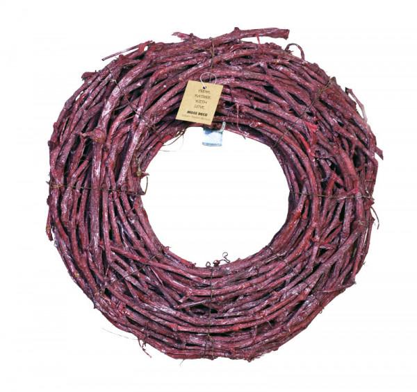 Grape Wood Kranz 50cm, brombeer