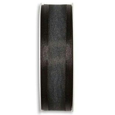 Band Organza 1104/25mm 25m, 100 schwar