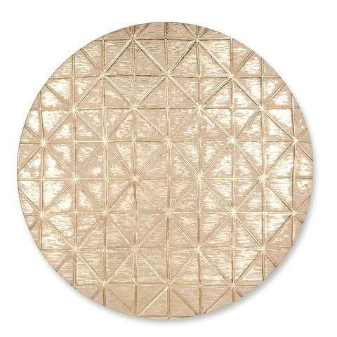 Untersetzer Holz D29cm, gold