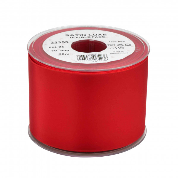 Band Satin 22355/70mm 25m, 025 rot