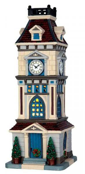 Clock Tower LED 10,5x28,7cm mitAdapter beleuchtet