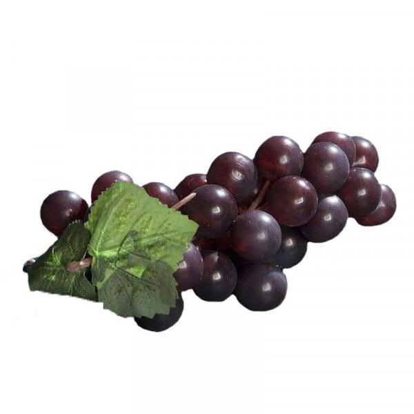 Weintrauben x36 14cm m.2Blättern, burgund