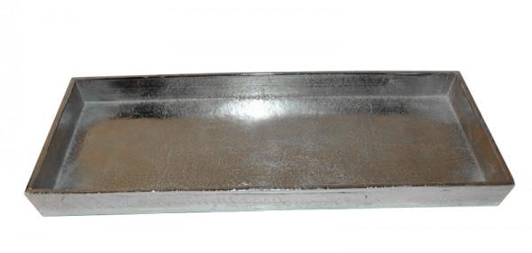 Tablett Alu antik 50x18x3cm, silber