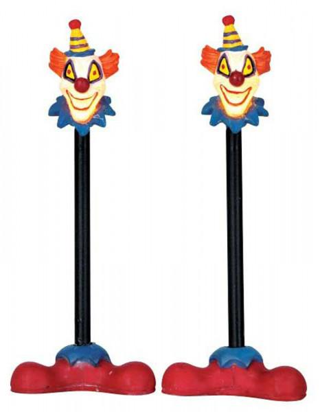 Halloween Killer Clown Lamp Post S/2 Beleuchtet,Batteriebetrieben, H10,7cm