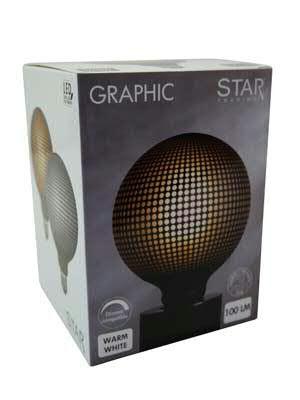 LED Lampe 12,5x17,2cm dimmbar 2700K 230V/4W 100LM, grau frost