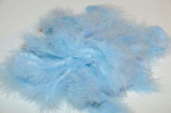 Maraboufedern 30g, m.blau