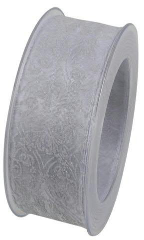 Band X665/40mm 15m Ornament, 01 weiß