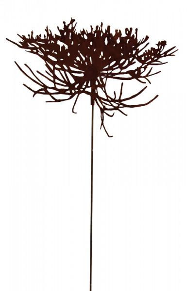 Rost Blüte D50cm am Stab L150cm