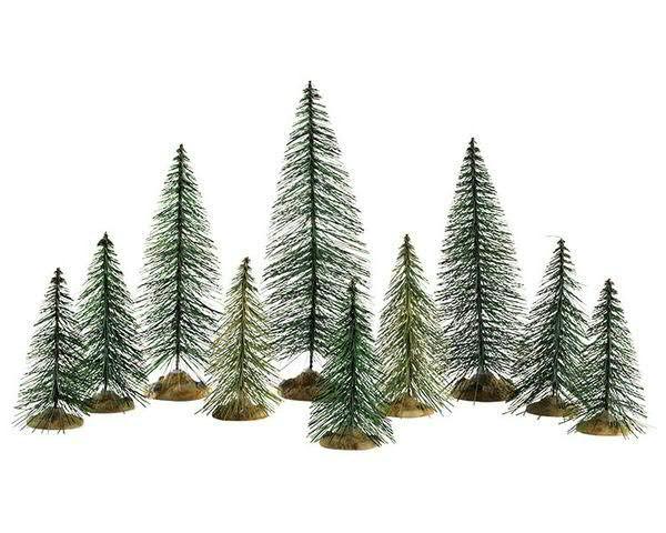 Needle Pine Trees S/10 H22cm