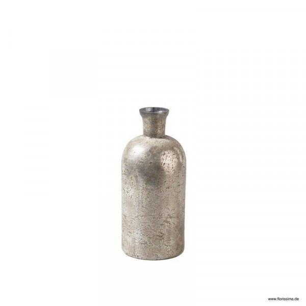 Glas Flasche D10xH23cm rund, creme