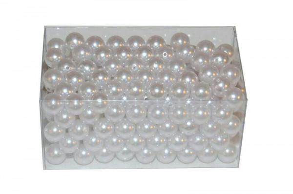 Perlen 16mm 500g, weiß