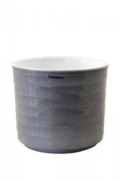 Kübel Keramik 993/16cm Wave, Lasur grau