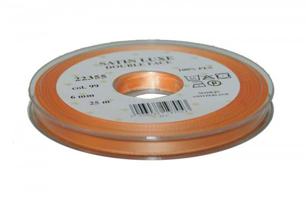 Band Satin 22355/06mm 25m, 099 lachs
