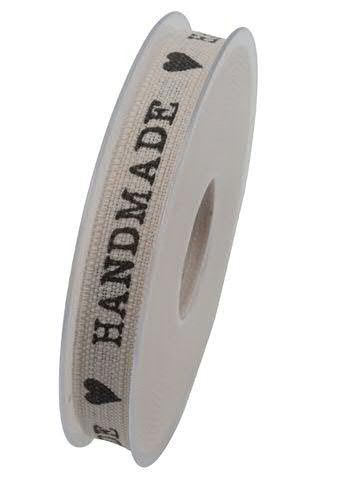 Band X954/15mm 20m Handmade, natur/schw
