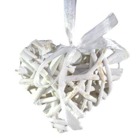 Herz Korb D10cm, weiß