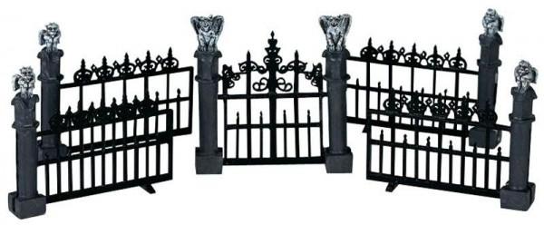 Halloween Gargoyle Fence S/5 37,7x7,4