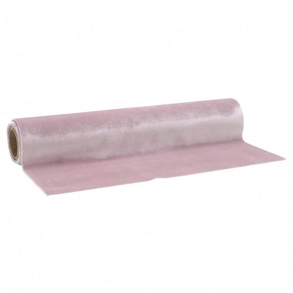 Samt 37x200cm auf Rolle, rosa