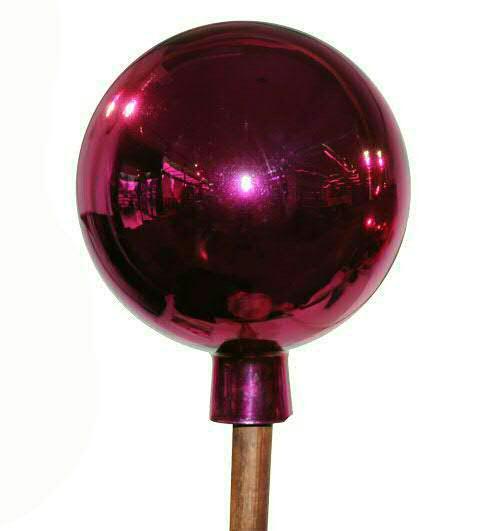 Rosenkugel 20cm mit Stab 120cm, pink
