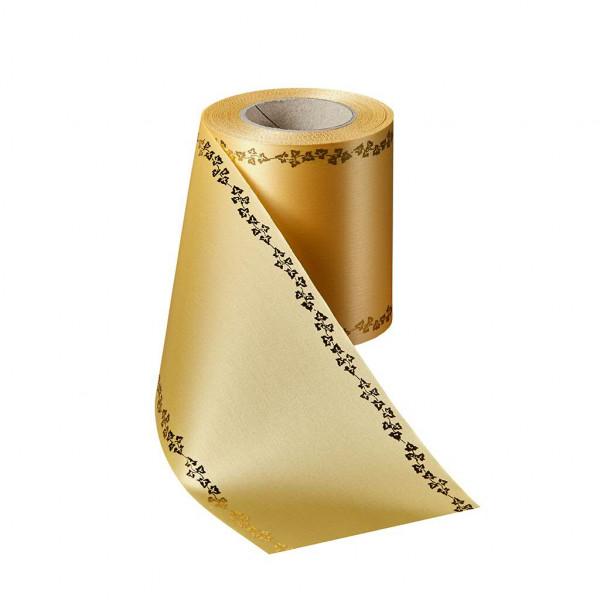 Kranzband 06738/175mm 25m Satin Efeurand gold, 017 maisge