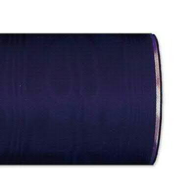 Kranzband 4422/175mm 25m Moire Goldrand, 255 d.lila