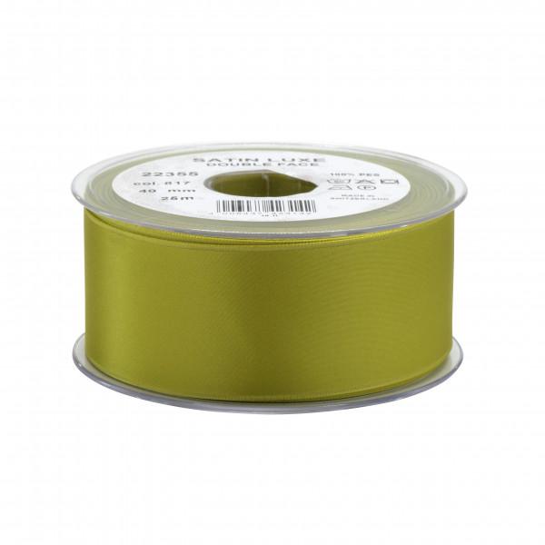 Band Satin 22355/40mm 25m, 817 grün