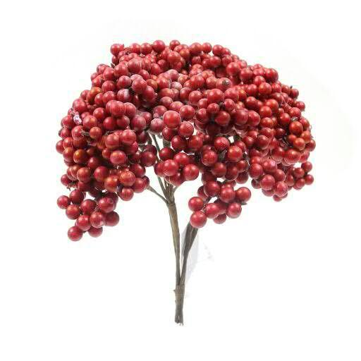 Beeren Bündel 25cm x4, rot
