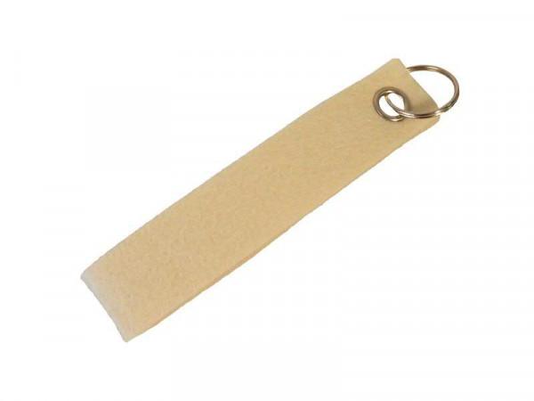 Schlüsselanhänger Filz SP, creme