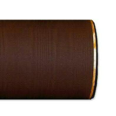 Kranzband 4422/075mm 25m Moire Goldrand, 296 braun