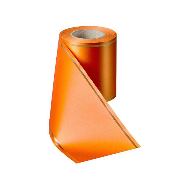 Kranzband 06508/175mm 25m Satin Goldrand, 086 terra
