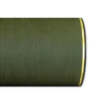 Kranzband 4422/125mm 25m Moire Goldrand, 291 oliv