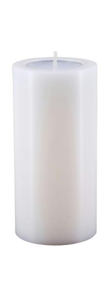 Lux Trend D6H12cm Teelichthalter, weiß