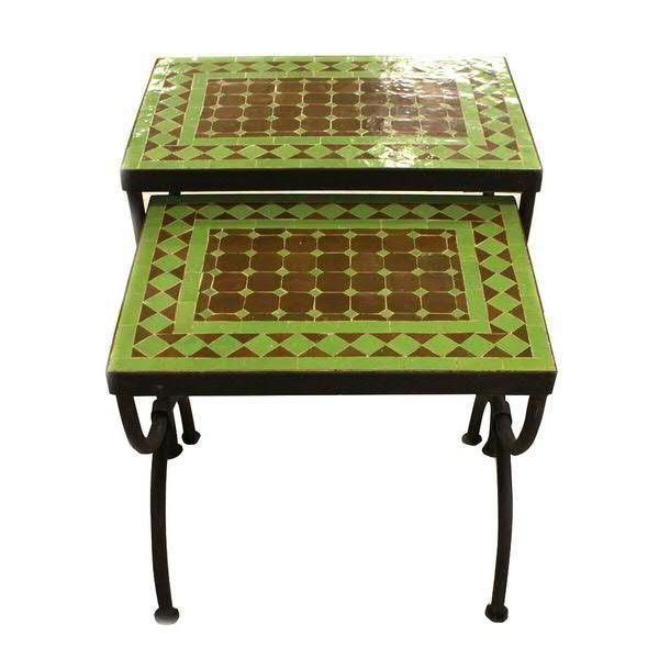 Klocke Deko hocker x2 sp metall 40x30x36 45x33x43c grün möbel angebote sale