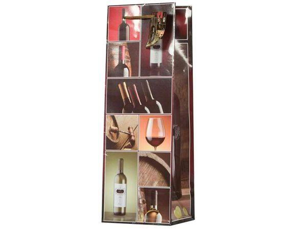 Flaschentasche SP 12x10x35cm Rotwein