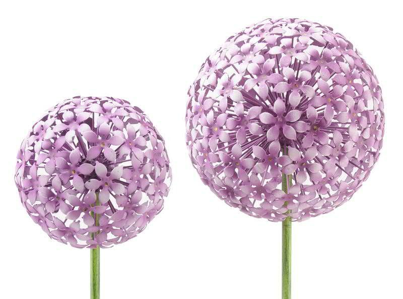 Gartenstecker Allium 20x120cm, rosa | Gartenstecker | Metall ...