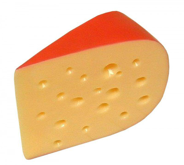 Käse H9L12B5cm Gouda, gelb/rot